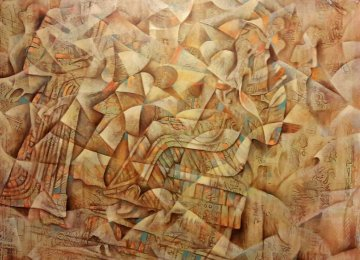 A feature painting by Firouzeh Akhlaqi