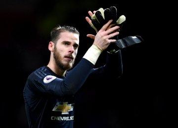 De Gea Wins Golden Gloves, Man Utd in Second Place
