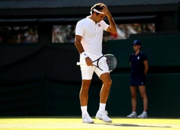 Roger Federer is out of Wimbledon after throwing away two-set lead.