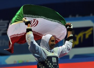 Kimia Alizadeh Selected Flag-Bearer in Asian Games