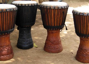 Bougarabous, drums used in Ivory Coast