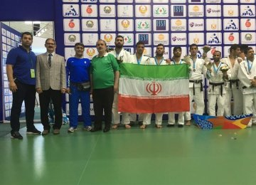 Iranian judo fighters in Turkey