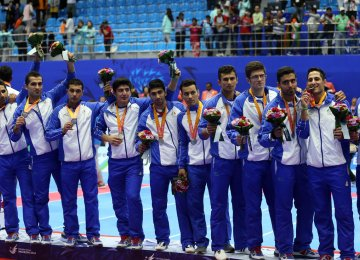 Iran kabaddi team won silver medal in the 2014 Asian Games in Incheon, South Korea.