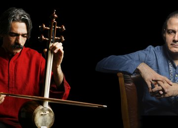Kayhan Kalhor (L) and Alireza Ghorbani