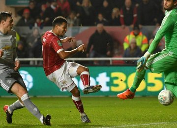 Korey Smith of Bristol netted the goal in extra minutes 90+3