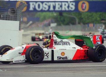 Ayrton Senna's McLaren Ford in 1993