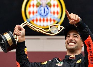 Ricciardo Wins Formula One Grand Prix in Monaco