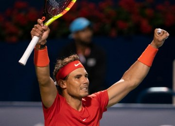 Nadal Reach Rogers Cup Semifinals in Toronto