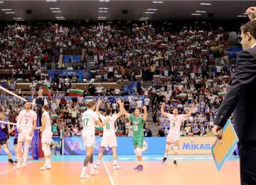 Fans packed the Palace of Sport and Culture in Varna, Bulgaria on Sunday.