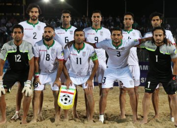 Iran beach soccer team