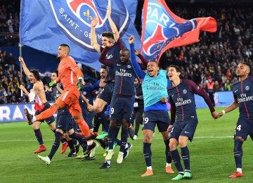 PSG Thrashes Monaco to Win Ligue 1 Title
