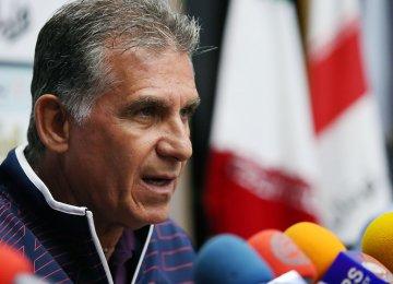 Queiroz Will End Iran Job After World Cup
