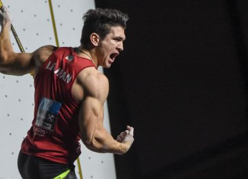 Climber Alipour Wins World Championship