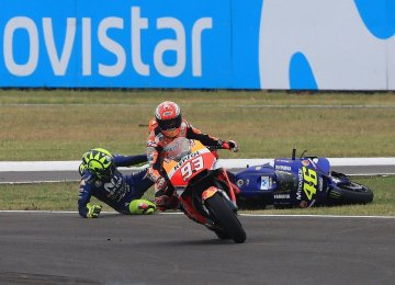 Valentino Rossi Lashes Marquez for Argentina Clash