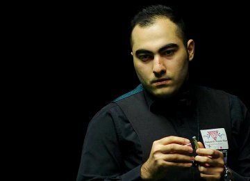 Hossein Vafaei, 23, is the first Iranian professional snooker player in the history of the UK games; he has already won Asian and world snooker titles