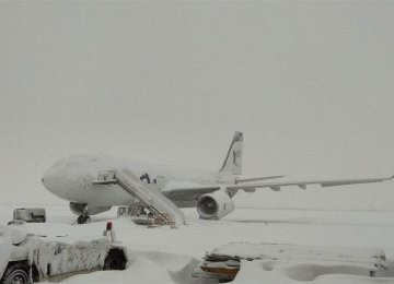 Due to the heavy snow, flights to and from Tehran and airports  in other snow-covered cities were canceled on Sunday.