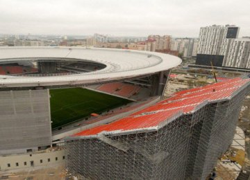 Russian Stadium Adds Seats Outside Arena