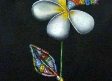 A painting by Sara Ashrafi