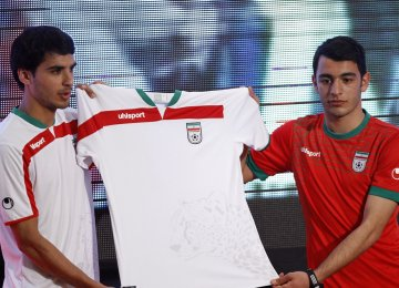 Uhlsport provided Team Melli jerseys in 2014 Rio World Cup.