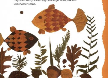 A page from 'Look What I Did with a Leaf'