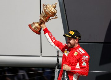 Sebastian Vettel Wins Formula 1 British Grand Prix