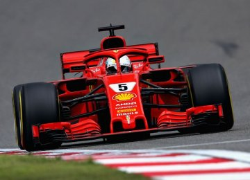 Vettel has a 17-point lead over Hamilton after winning the opening two races of the season