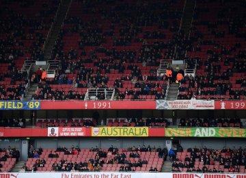 Empty seats at the Emirates Stadium