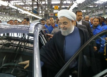 President Rouhani Launches Iran Khodro's Peugeot 2008 Production Line