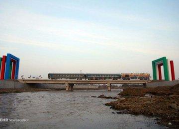 Astara-Astara railroad runs 8 kilometers in Azerbaijan up to the border from where it extends 2 km to Iran's port city of Astara
