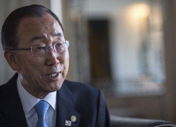 Ban Ki-moon Not to Run  for S. Korea Presidency