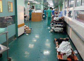 A corridor in the Al-Shifa Hospital in Gaza,  pictured last year. (File Photo)