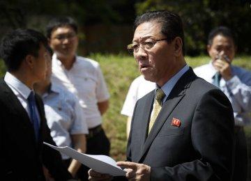 North Korea's Ambassador to Malaysia Kang Chol