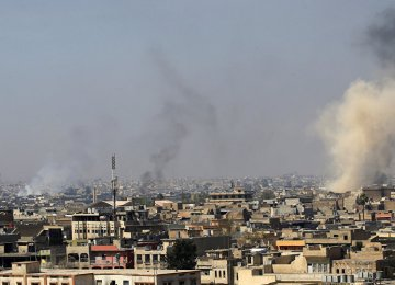 Smoke rises from the Old City in Mosul, Iraq. (File Photo)