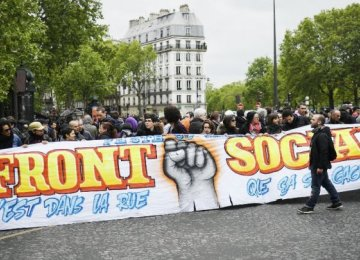 Paris Protestors Oppose Macron
