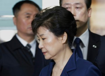S. Korea's Ex-President Park Indicted for Bribery