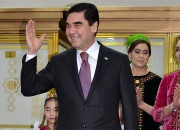 Turkmen President Wins 3rd Term