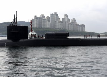 USS Michigan in Busan, South Korea, April 24