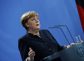 Europe's destiny lies in its own hands, German Chancellor Angela Merkel said on Monday in