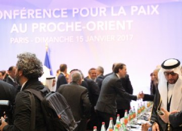 Delegates from 70 countries arrive in Paris for Palestinian peace talks on Jan. 15