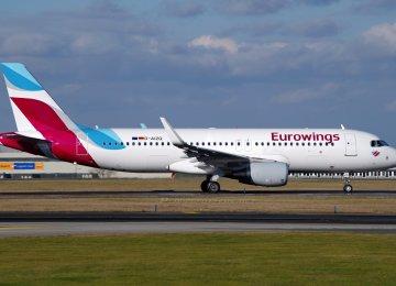 A Eurowings plane