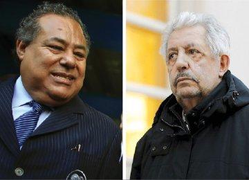 Rafael Esquivel, former president of the Venezuelan soccer federation, (R)  and Julio Rocha, former president of Nicaragua football association