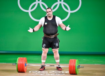 Iran heavy-weight weightlifter, Behdad Salimi has always been tested and remains clean at the highest level.