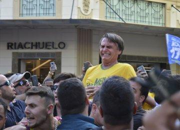 Brazil's Presidential Front-Runner Stabbed at Rally