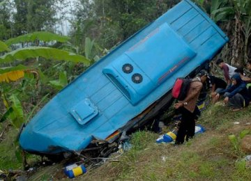 21 Killed in Indonesia Bus Crash