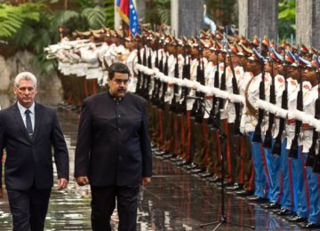 Cuba's Diaz-Canel Receives Maduro in First Act as President