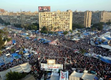 Rabaa Adawiya square during the 2013 sit-in in Cairo