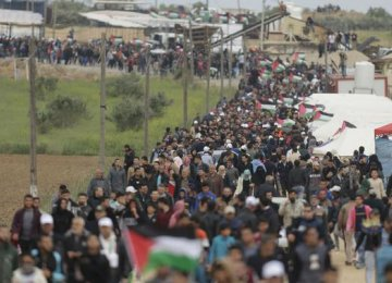 Some 30,000 Palestinians took part in the first of the demonstrations on March 30.