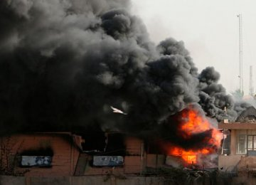 Fire at Baghdad Ballot Paper Depot