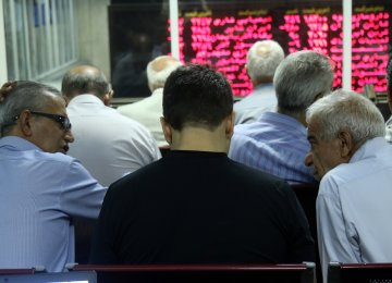 Tehran Stocks Shed 1,000 Points