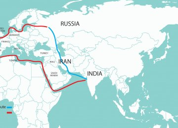 INSTC will connect the India Ocean and Persian Gulf with the Caspian Sea through Iran and then onwards to St. Petersburg in Russia and Europe.